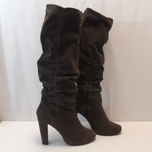 Aldo Grey Suede knee-hi Slouch Boots